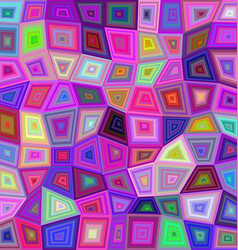 Multicolor irregular rectangle mosaic background vector