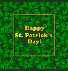 Polygonal three-leaved clover st patricks day vector