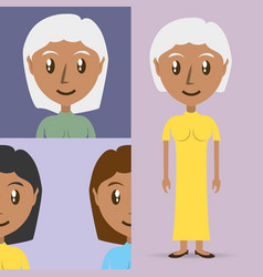 Set avatars women of different diversity vector