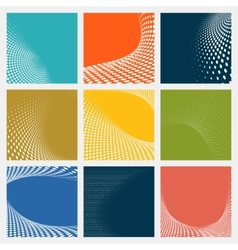 Set of dotted abstract forms vector image vector image