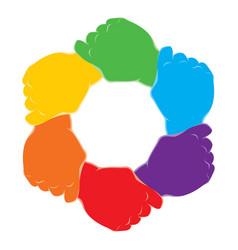 Symbol hands vector image
