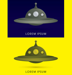 Ufo alien spaceship flying vector
