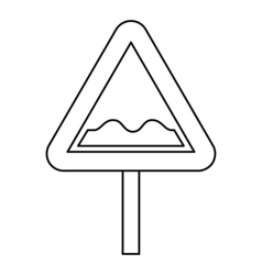 Uneven road sign icon outline style vector image vector image
