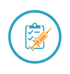 Vaccination and medical services icon flat design vector