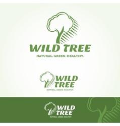 Wild tree logotype vector