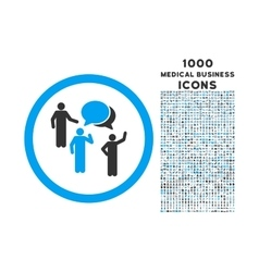 Forum persons rounded icon with 1000 bonus icons vector