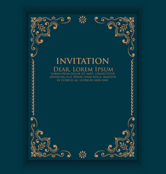 Invitation cards with ethnic arabesque elements vector
