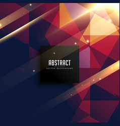 Triangles background with shiny effect vector