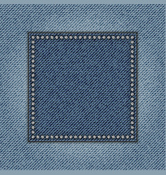 Jeans square vector