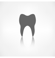 Tooth web icon vector