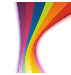 Bright colorful refreshing rainbow swoosh vector