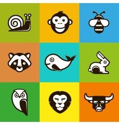 abstract logo symbols vector image