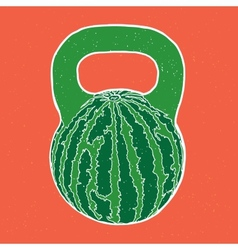 Watermelon kettlebell vector