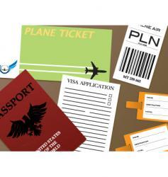 check-in visa vector image