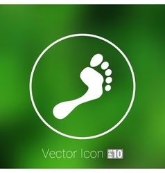 Foot icon human footprint logo symbol vector