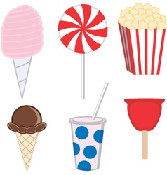 Collecton of carnival treats vector