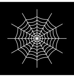 The spiderweb icon web symbol flat vector