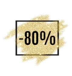 80 percent off discount promotion tag vector