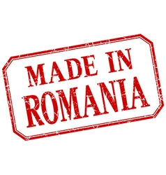 Romania - made in red vintage isolated label vector