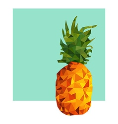 Pineapple fruit modern low poly design for summer vector