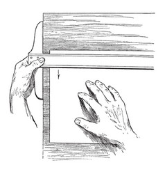 Adjusting the paper on the board thickness vector
