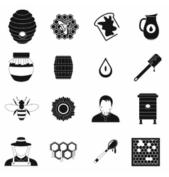 Apiary black simple icon vector image vector image