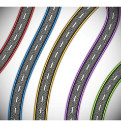 Asphalted roads vector image vector image