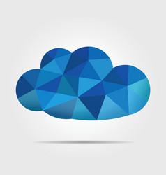 Blue mosaic cloud vector