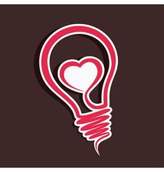 Creative love sticker vector