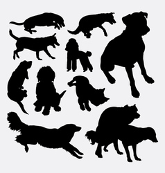 Dog pet animal silhouette 10 vector image vector image