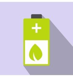 Eco energy battery icon vector