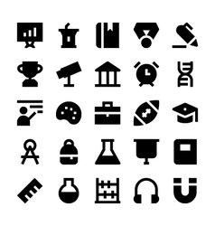 Education school and learning icons 1 vector