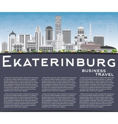 Ekaterinburg Skyline with Gray Buildings vector image vector image