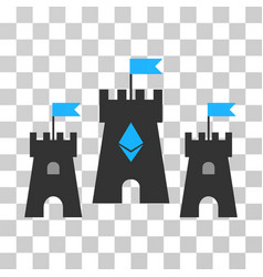 Ethereum castle icon vector