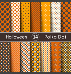 Fourteen polka dot on the halloween seamless vector