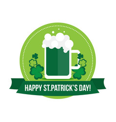 Happy st patricks day label banner badge vector