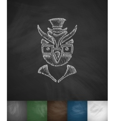 Hipster owl icon hand drawn vector