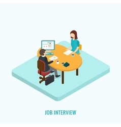 Job interview concept vector image vector image