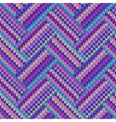 Knit woolen seamless background vector image