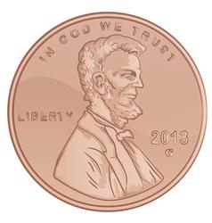 Penny Cartoon vector image