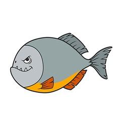 Piranha Cartoon vector image vector image