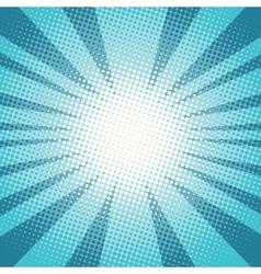 Pop art sun rays blue background vector image