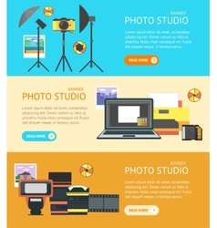Professional Photo Studio Banner vector image vector image