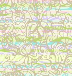 psychodelic flower vector image