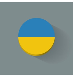 Round icon with flag of Ukraine vector image vector image