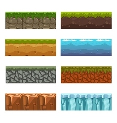 Seamless landscape square elements Big set vector image vector image