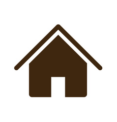 Silhouette house icon flat design vector