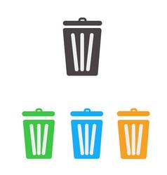 Trash icon set bin icon set vector