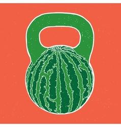 Watermelon kettlebell vector image