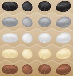 zen garden stones vector image